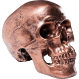 Kasička SKULL COPPER ANTIQUE