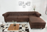 Sedačka CHESTERFIELD CORNER VINTAGE LEATHER