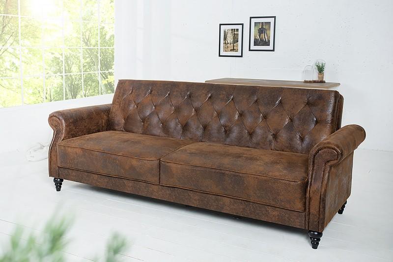 b3f0dc3a9e Vintage hnědá luxusní sedačka se sklopným opěradlem MAISON II VINTAGE.
