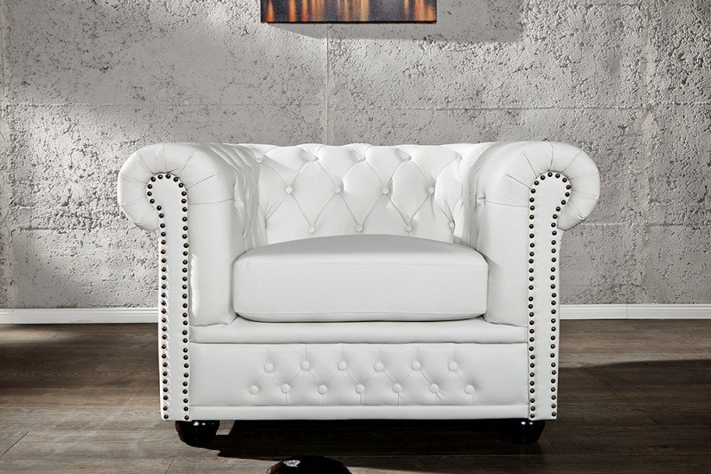 Křeslo CHESTERFIELD WHITE