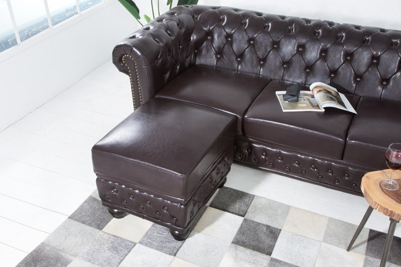 Taburet CHESTERFIELD POUFFE BROWN