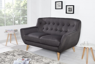 Sedačka 2 SOFA RETRO ANTRACIT