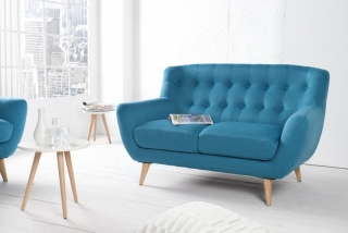 Sedačka 2 SOFA RETRO BLUE