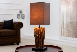 Stolní lampa EUPHOR BROWN
