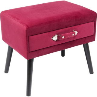 Taburet DRAWER RED