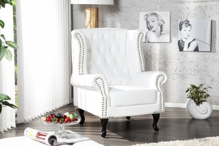 Křeslo CHESTERFIELD OLD WHITE