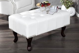 Taburet CHESTERFIELD STOOL WHITE