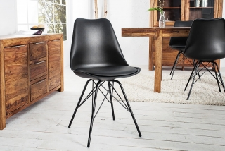 Židle SCENER CHAIR RETRO BLACK