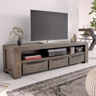 TV stolek IRON CROFT GRAY II