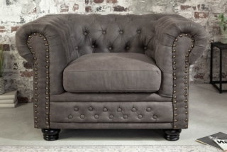 Křeslo CHESTERFIELD ANTIK GRAY